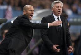 """C. Ancelotti: """"Zidane'as ir """"Real"""" yra sukurti vienas kitam"""""""
