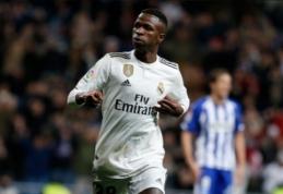 """Vinicius atskleidė, kad prieš atvykdamas į """"Real"""" atmetė pelningesnį """"Barcos"""" pasiūlymą"""