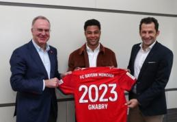 """Oficialu: S. Gnabry savo ateitį susiejo su """"Bayern"""""""
