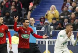 Prancūzijos taurės finalo atgarsiai: Neymaro konfliktas su sirgaliumi ir diskvalifikacijos sulauksiantis K. Mbappe