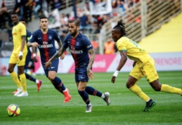 """PSG toliau nepavyksta užsitikrinti čempionų titulo: pralaimėta """"Nantes"""" ekipai"""