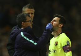 """C. Smallingas apie incidentą su L. Messi: """"Jis suprato, kad tai tebuvo žaidybinis epizodas"""""""