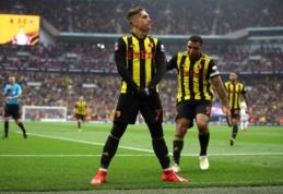 """Dviejų įvarčių deficitą panaikinęs """"Watford"""" sensacingai žengė į FA taurės finalą"""