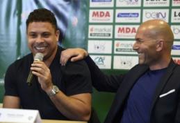 """Ronaldo: """"Niekada neįsivaizdavau, kad Zidane'as taps treneriu"""""""