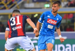 """Napoli"" Italijos pirmenybėse finišavo nesėkme prieš ""Bologna"""