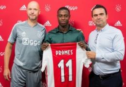 """Sezoną Ispanijoje praleidęs Q. Promesas sukirto rankomis su """"Ajax"""""""