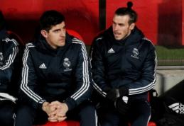 """Madrido """"Real"""" į Vokietiją išvyko be G. Bale'o ir traumą patyrusio T. Courtois"""