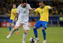 """Į L. Messi pareiškimus sureagavęs D. Alvesas: """"Jis padarė klaidą taip kalbėdamas"""""""