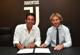 """Oficialu: G. Buffonas sugrįžo į """"Juventus"""""""