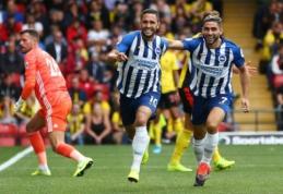 """Anglijoje – pergalingas """"Burnley"""" ir """"Brighton"""" startas bei """"Everton"""" lygiosios"""
