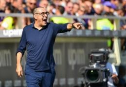 """M. Sarri džiaugėsi iškovotu tašku rungtynėse su """"Fiorentina"""""""
