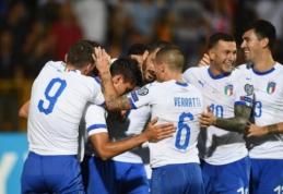 Italija pasiekė penktą pergalę Europos čempionato atrankoje