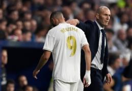 """K. Benzema įvarčiu pasidžiaugęs Z. Zidane'as: """"Jis daro kitus žaidėjus geresniais"""""""