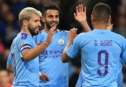 """""""Man City"""" ir """"Leicester"""" prasibrovė į kitą Anglijos lygos taurės etapą"""