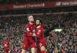 """Ankstyvą įvartį praleidęs """"Liverpool"""" atsitiesė antroje mačo pusėje"""