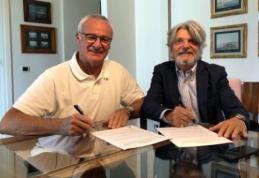 "Oficialu: C. Ranieri perima ""Sampdoria"" komandos vairą"