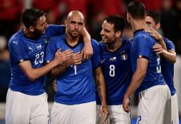Italijos rinktinė pristatė žalios spalvos aprangą