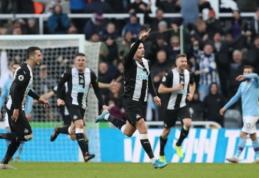 """Įspūdingais įvarčiais apsikeitusios """"Newcastle"""" ir """"Man City"""" ekipos išsiskyrė lygiosiomis"""