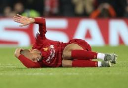 """""""Liverpool"""" iki metų pabaigos turės verstis be Fabinho"""