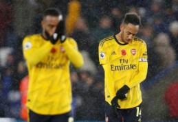 """""""Arsenal"""" ekipą ant menčių paguldęs """"Leicester"""" kyla į antrąją poziciją """"Premier"""" lygoje"""
