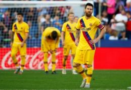 """Tris įvarčius per 7 minutes pasiekusi """"Levante"""" patiesė """"Barcą"""", """"Atletico"""" liko be pergalės Sevilijoje"""