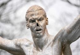 Švedijoje dar labiau išniekinta Z. Ibrahimovičiaus statula