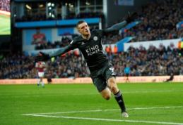 """Anglijoje – eilinė """"Leicester"""" pergalė ir J. Vardy įvarčiai"""