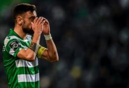 """Stringa """"Man Utd"""" ir """"Sporting"""" derybos dėl B. Fernandeso"""