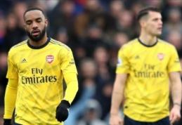 """Mažumoje rungtynes užbaigęs """"Arsenal"""" išsiskyrė lygiosiomis su """"Crystal Palace"""""""