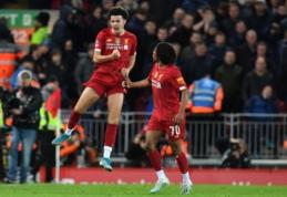 """Fantastiškas 18-mečio įvartis išvedė """"Liverpool"""" į kitą FA taurės etapą"""