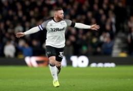 """Debiutinėse W. Rooney rungtynėse – rezultatyvus perdavimas ir """"Derby"""" pergalė"""