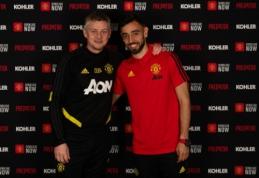 """Oficialiai sutartį su """"Man Utd"""" sudaręs B. Fernandesas: """"Neįtikėtinas jausmas būti čia"""""""