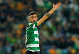 """""""Sporting"""" treneris apie B. Fernandesą: """"Norėčiau jį turėti komandoje bent iki sezono pabaigos"""""""