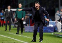 """G. Gattuso po lygiųjų su """"Barca"""": """"Varžovai mums praktiškai nekėlė jokių problemų"""""""