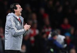 """U. Emery prisiminė gėdingą PSG pralaimėjimą Barselonoje: """"Prie VAR to nebūtų nutikę"""""""