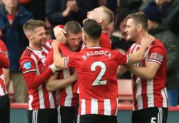"""""""Sheffield Utd"""" palaužė """"Bournemouth"""" ir pakilo į penktąją poziciją"""