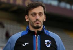 """""""Sampdoria"""" puolėjui diagnozuotas koronavirusas, trys """"Leicester"""" žaidėjai – karantine"""