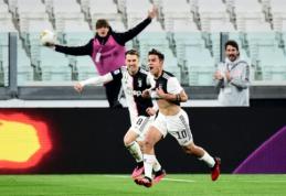 """""""Juventus"""" sudavė smūgį """"Inter"""" ambicijoms kovoje dėl čempionų titulo"""