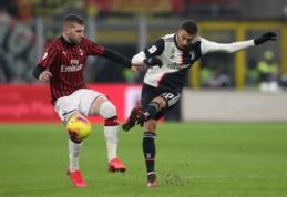 """Dėl koronaviruso atidėtos """"Juventus"""" ir """"AC Milan"""" rungtynės"""