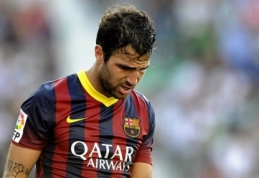 """C.Fabregas gali palikti """"Barcelona"""" klubo gretas"""