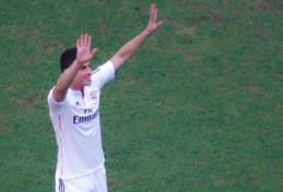 """Ambicingi D. Beckhamo planai – pradėjo kalbas su """"Real"""" dėl J. Rodriguezo"""