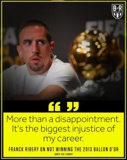 """F. Ribery iki šiol skaudžiai prisimena 2013-ųjų """"Ballon d'Or"""" rinkimus"""