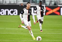 Treniruotės metu – taiklus C. Ronaldo spyris į krepšį
