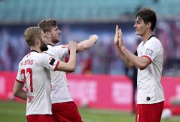 """Bundeslyga: """"Leipzig"""" neišlaikė persvaros prieš """"Hertha"""""""