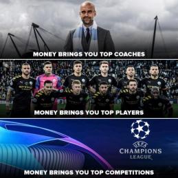 Pinigų reikšmė futbole