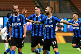 """""""Serie A"""": """"Inter"""" tik rungtynių pabaigoje išplėšė lygiąsias prieš """"AS Roma"""""""