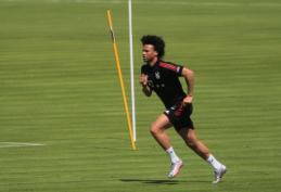 """Pirmąją treniruotę """"Bayern"""" klube turėjęs L. Sane: """"Esu be galo laimingas būdamas čia"""""""