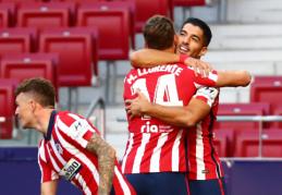 """L. Suarezas debiutą """"Atletico"""" gretose pažymėjo dviem įvarčiais ir rezultatyviu perdavimu"""