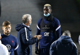 """D. Deschampsas: """"Pogba negali būti patenkintas dėl dabartinės savo situacijos """"Man Utd"""" klube"""""""