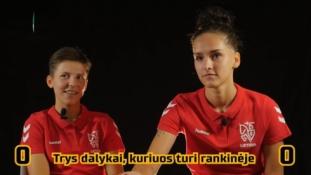 """L. Ruzgutė ir V. Čiapaitė sužaidė smagų žaidimą """"Penkių sekundžių iššūkis"""""""